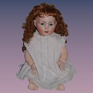 "Antique Doll Bisque BIG Toddler Schoenau & Hoffmeister Adorable 24"" BIG"