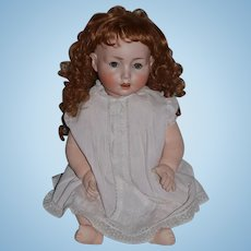 "Antique Doll Bisque BIG Toddler Schoenau & Hoffmeister Adorable 24"" BIG"