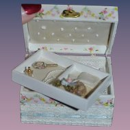 Artist Doll Miniature Trunk W/ Accessories Removable Tray Signed Eleene McDanah Dollhouse