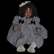 Wonderful Doll Black Doll Fayzah Spanos Character Baby Doll GORGEOUS HAND SIGNED