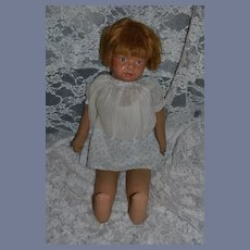 Antique Doll Cloth Doll Oil Painted Cloth Louise R Kampes Wonderful Outfit Kamkins