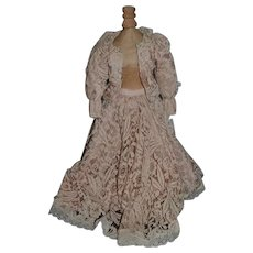 Old Wonderful Doll Lace Skirt & Top Jacket For Fashion Doll Fancy