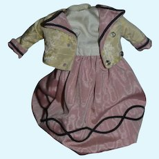 Vintage Doll Mae Lee Betty Ensor Designs Fab Doll Clothes Dress & Jacket For Petite Doll WONDERFUL