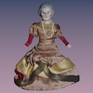Old Doll Bisque Miniature Dollhouse Grandmother Lady Doll