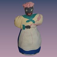 Old Doll Cloth Doll Rag Doll Black Mammy Doll