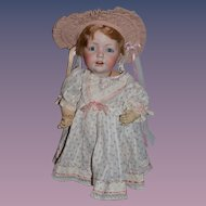 "Antique Doll Bisque Head Hilda Character Adorable 16"" Tall and Dressed JDK Kesnter"
