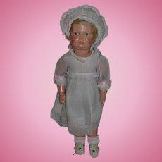 Antique Doll Schoenhut Wood Carved Jointed Doll W/ Original Schoenhut Shoes Original Clothes