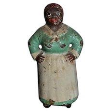 Old Cast Iron Miniature Hubley Mammy Doll Figurine Dollhouse