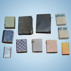 Old Miniature Set of Doll Books Dollhouse Faux and Real Miniature Bible lot