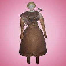 Antique Doll German Bisque Autoperipatetikos Parian Walking Doll Gorgeous Wind Up