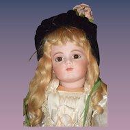 Sweet Vintage Artist Made Velvet Hat Bonnet for Doll Flower Satin Sweet