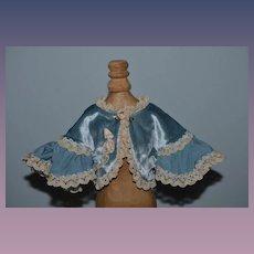 Wonderful Doll Cape Velvet Lace Flowers Fancy