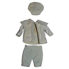 Old Sweet Doll Miniature Outfit Top Pants Hat SWEET for Boy Bisque Doll