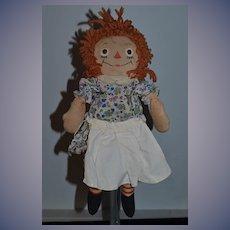 Old Raggedy Ann Cloth Doll Rag Doll Raggedy Gruelle's Own Tagged