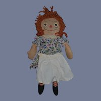 Old Raggedy Ann Cloth Doll Rag Doll Raggedy Gruelle's Own Tagged