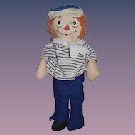 Old Raggedy Andy Doll Cloth Doll Rag Doll Georgene Tin Eyes