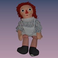 "Vintage Large Raggedy Ann Doll Cloth Doll Rag Doll HUGE 42"" Tall Knickerbocker WONDERFUL"