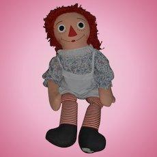 """Vintage Large Raggedy Ann Doll Cloth Doll Rag Doll HUGE 42"""" Tall Knickerbocker WONDERFUL"""