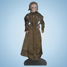 Antique Doll French Fashion Gorgeous Face Antique Clothing Closed Mouth