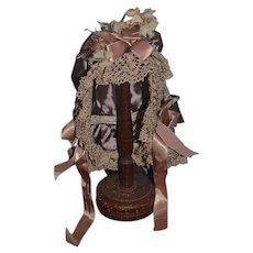 Wonderful Doll Hand Made Bonnet Hat Sweet Artist Made
