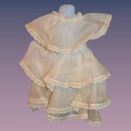 Vintage Doll Dress Lace Ruffles