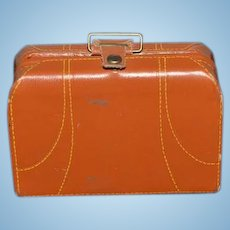 Old Miniature Leather Suit Case Luggage Doll W/ Accessories Display