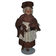 Wonderful Doll Artist Doll Porcelain Faith Wick Carved Wood Boots Tag