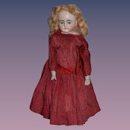 Antique Doll German Bisque Turned head Closed Mouth Sweet Girl