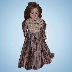 Antique Doll Bisque Gorgeous face Oily Bisque Incised 5 Gorgeous Dress and sweet Shoes Mystery