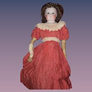 Antique Doll French Bisque Gorgeous Fashion Doll Closed Mouth Wonderful Face incised With r y s