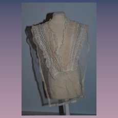 Wonderful Old Lace Collar For Larger Doll Fancy