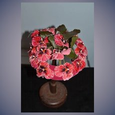 Wonderful Vintage Hat or Bonnet For Doll Flowers Sweet!