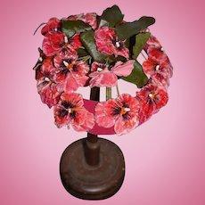 Wonderful Vintage Hat or Bonnet For Doll Flowers Sweet!