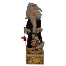 Artist Doll Old ST. Nick Santa Claus By Faith Wick Wind Up Moves!