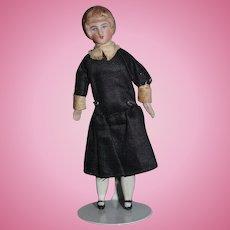 Old Doll Miniature Dollhouse Bisque Maid Original Clothing Bun