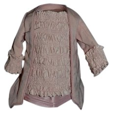 Sweet Artist Made Pink Fancy Jacket Top  Dress For French or German Doll