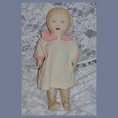 Old Cloth Doll Rag Doll Unusual Sewn Features