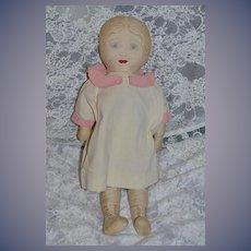 Old Cloth Doll Rag Doll Unusual Sewn Features