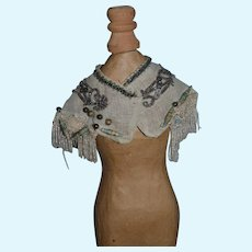Wonderful Doll Hand Made Shawl Collar Beaded Fringe Perfect for your Fashion Doll