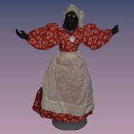 Old Wonderful Black Cloth Doll Rag Doll Unusual