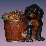 Old Dog Terra Cotta Austria Statue Miniature Figurine Doll Toy