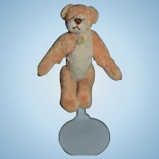 Sweet Miniature Artist Teddy Bear Jointed For Doll to hold Dollhouse Signed LC