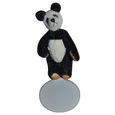 Artist Teddy Bear Miniature For Dollhouse Little Gem 1995 Signed Jointed Panda