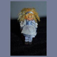 Vintage Miniature Thimble Doll Dollhouse Artist