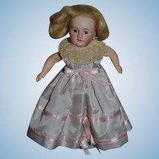 Antique Doll Cabinet Size French SFBJ Bisque Head Sweet