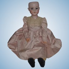 "Antique Doll Large Bisque Armand Marseille Beautiful Clothes 26"" Tall"