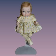 Artist Doll Miniature By Phyllis Wright House of Wright W/ Tag Dressed Jointed SWEET Dollhouse