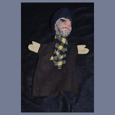 Old  Unusual Cloth Felt Character Puppet Doll Toy