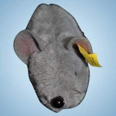Vintage Miniature Steiff Mouse Button Tag Fiep Doll Toy