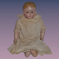 Antique Doll Oil Cloth Martha Chase Large